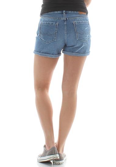 84d156aa16c6 Superdry Shorts Damen STEPH BOYFRIEND SHORT Dive Blue  Amazon.de  Bekleidung