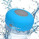 2BOOM Aqua Jam Portable Bluetooth Wireless Water Resistant Shower Speaker with Suction Cup Blue