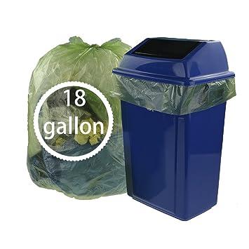 kekow 18 gallon grandes bolsas de basura para cocina, 85 ...
