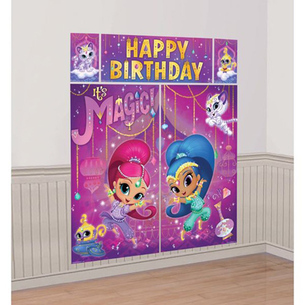 Amazon.com: Shimmer and Shine Wall Poster Decorating Kit (5pc ...