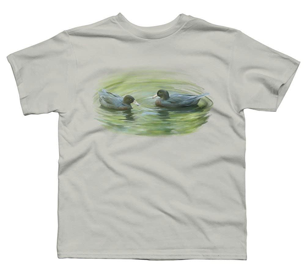 Design By Humans Blue Ducks Boys Youth Graphic T Shirt