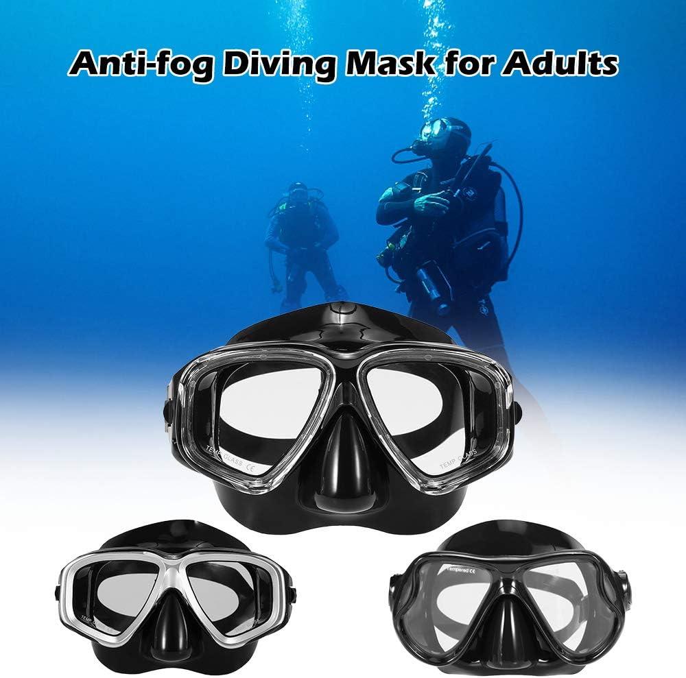 Blusea Adultes Masque de plong/ée sous-Marine Plong/ée en apn/ée Plong/ée sous-Marine Masque de Natation en Verre tremp/é Lunettes pour Hommes