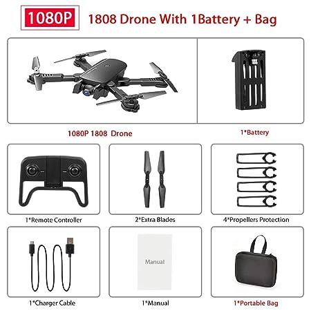 Tianzly WiFi FPV RC Drone con cámara 1080P 4K HD Quad Copter Flujo ...