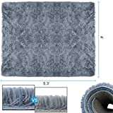 Soft Area Rugs, NUOKIM Nursery Rugs for Baby, Thin Carpet for Kids Bedrooms, 4 x 5.3 Feet,Gray