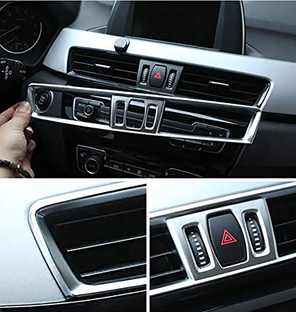 Central Console Air Conditioning Vent Cover Trim For X1 F48 Car Interior Carbon Fiber Style Accessories(Carbon fiber) Carwest