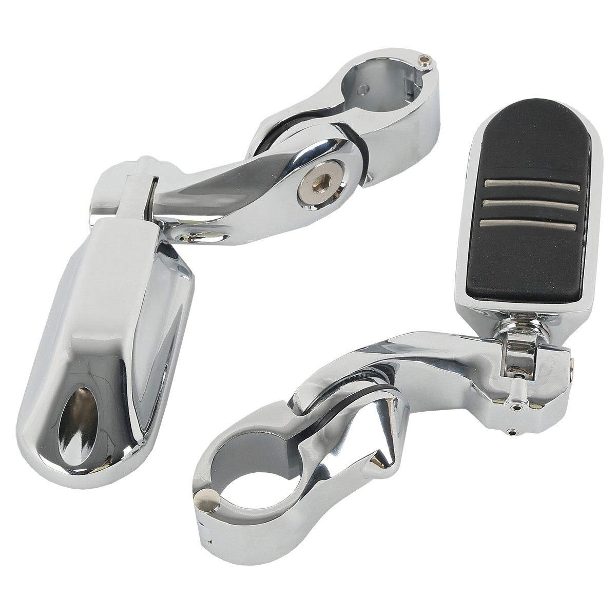 TCMT 32mm 1 1//4 Black Highway Foot Pegs Fits For Electra Road King Street Glide Touring Model Short Angled