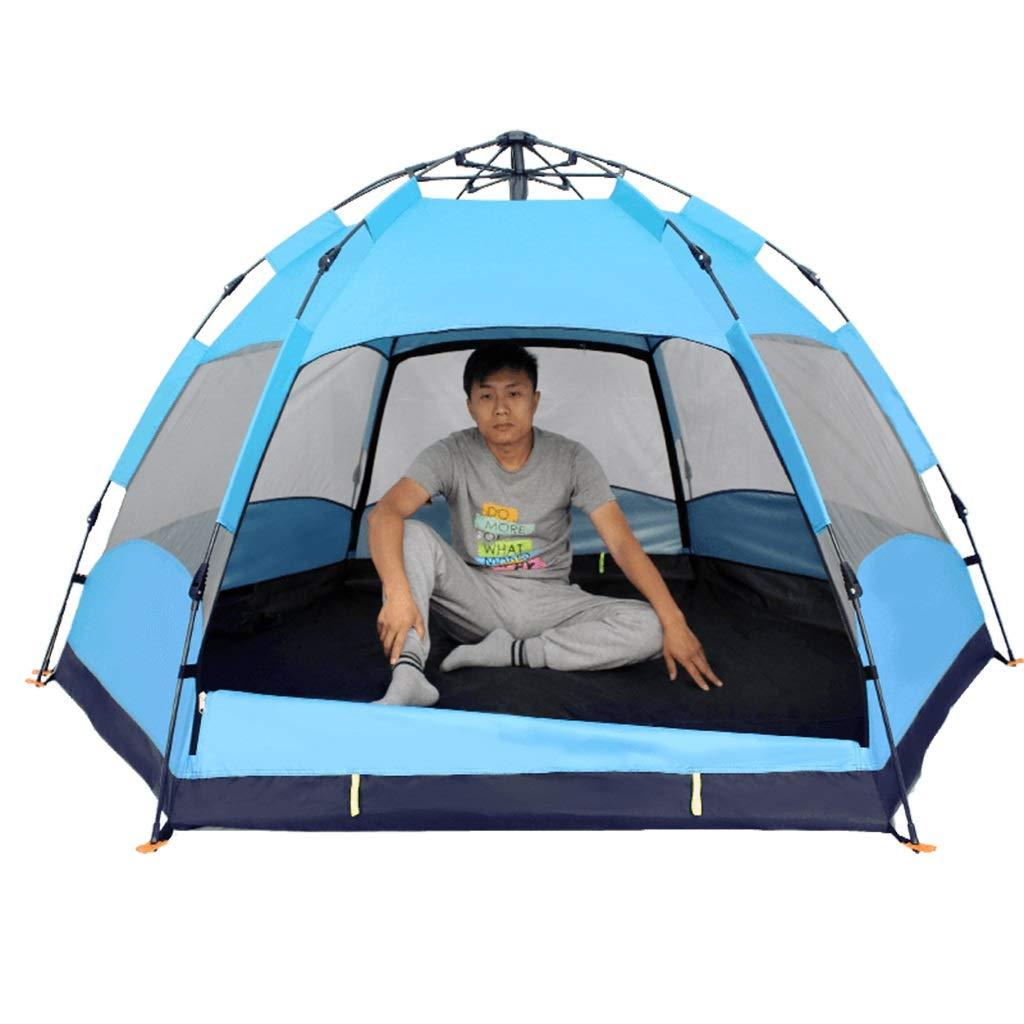 YaNanHome Imprägniern Zelt des Zeltes im Freien automatisches verdickendes 3-4 Leute Zelt (Farbe   Blau, Größe   240  240  135cm)