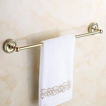 Hong Long Jade decorada toallero, completo kontinentales Cobre varillas, toallas de mano de oro, - Estantería de baño monomando Control Single Layer Toalla ...