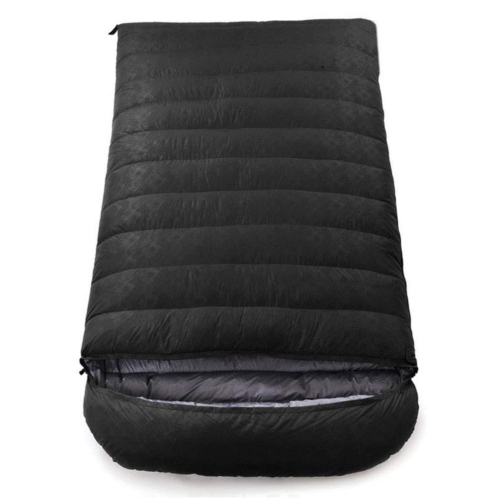 寝袋、軽量封筒睡眠袋2人防水寝袋大人または十代の若者たちのための屋外ハイキング快適な睡眠バッグ,red,800g B07MW6XZNM black 1800g 1800g|black