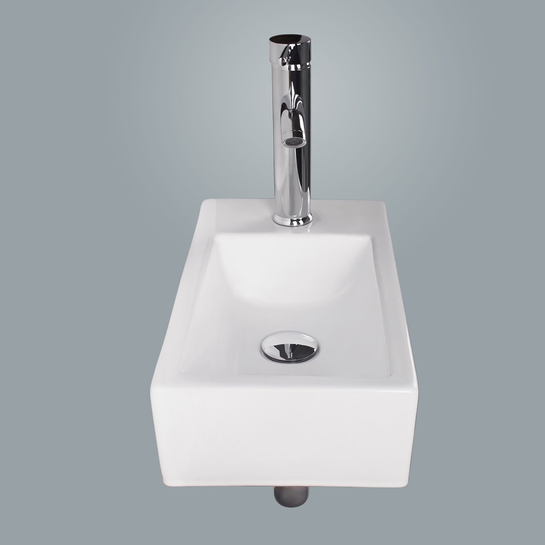 Walcut USBR1031 Bathroom Wall Mount Rectangle White Porcelain
