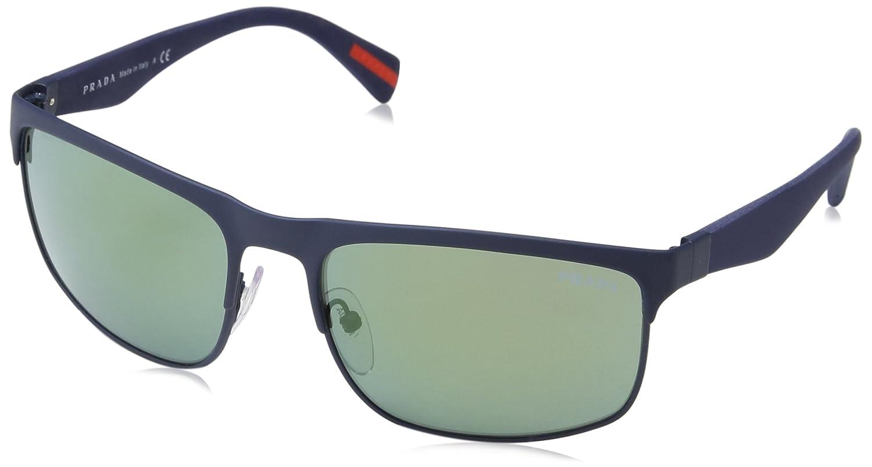 Prada Sport PS56PS TFY3C0 60, Gafas de Sol para Hombre, Azul ...