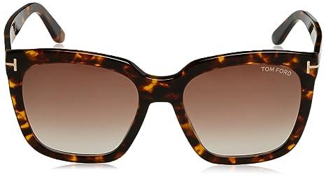 9362ed840e Tom Ford FT0502 52F Dark Havana Amarra Square Sunglasses Lens Category 2  Size 5 at Amazon Women s Clothing store