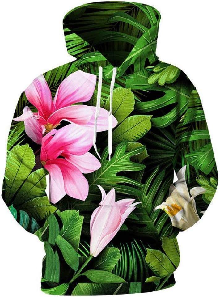 BAI Aassdd Plants 3D Print Sweatshirts Men 3D Hooded Sweatshirts Women Sweatshirts Men Casual Hoody Streetwear,L * L