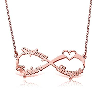 Panicy 925 Sterling Silber personalisierte Ewigkeit Infinity Name ...