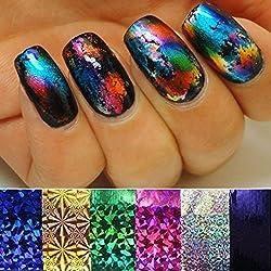 HeroNeo® 10 Colors Mix 10 Feet Nail Art Transfer Foil Set Tip Decoration Hot Fashion