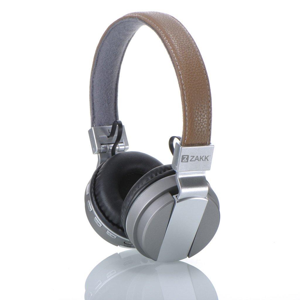 Zakk G50 Hunter Wireless Bluetooth Headphones with Mic (Tan)