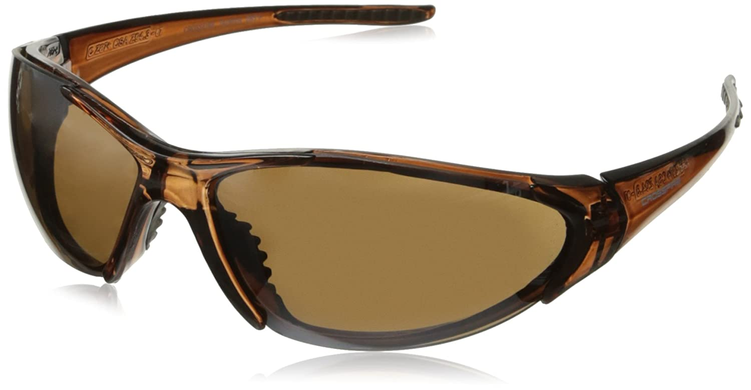 7d9a7ac04c Crossfire 18117 Core Safety Glasses Brown Flash Mirror Lens - Crystal Brown  Frame - Safety Glasses - Amazon.com