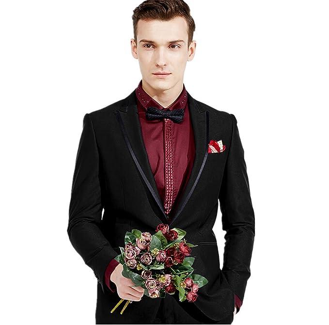 Amazon.com: Setwell - Traje formal para hombre para novio de ...