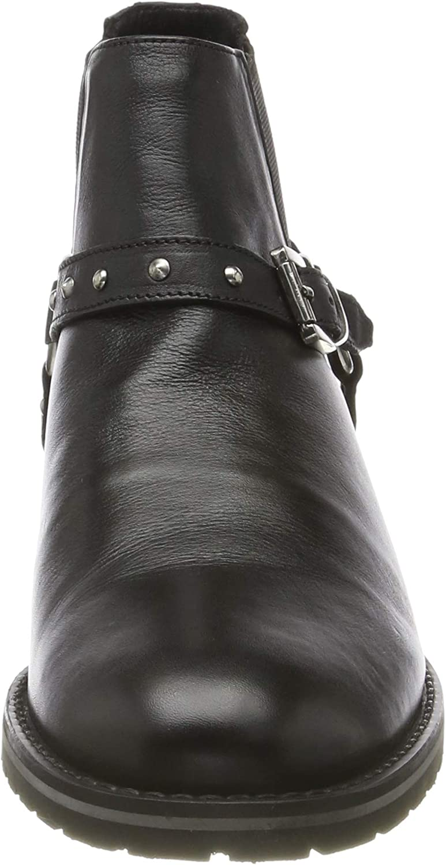 Marc Shoes Damen Lorella Stiefeletten Schwarz Cow Ox Milled Black 00715