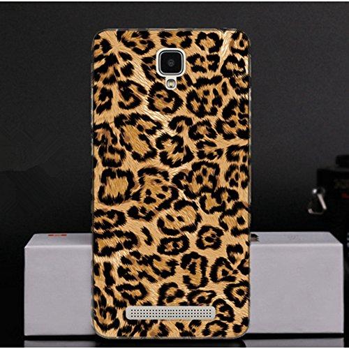Funda de Silicona para Doogee X10, Fukalu Cubierta de la Caja Proteger Silicona TPU Funda de Diseño Pintado para Doogee X10 (Color) Leopardo