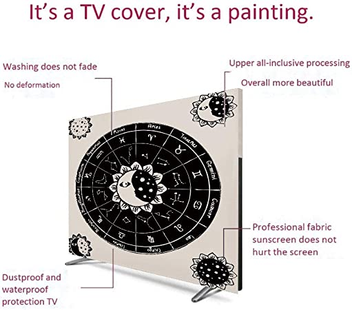 Amazon.com: Homenon Indoor POP TV dust Cover,Cover Type 65 ...
