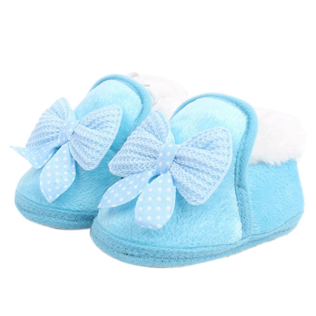 14 CM, Blue Bestpriceam/® Baby Boy Girl Bow-knot Shoes Toddler Winter Warm Boots Brow