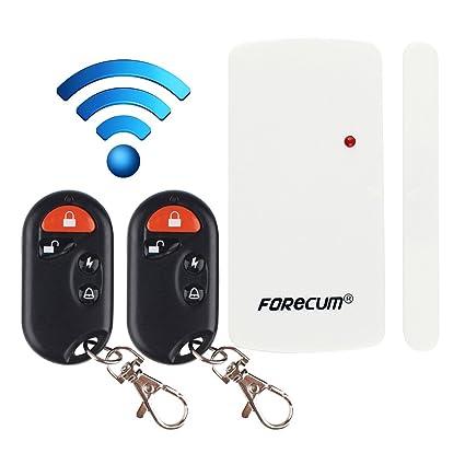 Alarma de Seguridad de Control Remoto para Puertas y Ventanas Alarmas de Seguridad de Control Remoto Antirrobo con Sensor Magnético