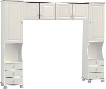 Steens Richmond Overbed Storage Unit White  sc 1 st  Amazon UK & Steens Richmond Overbed Storage Unit White: Amazon.co.uk: Kitchen ...