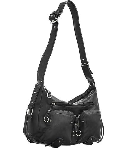 Amazon.com  Utilitarian Shoulder Bag Black Large Women s Hobo Handbags   Shoes f5a778b2b9275