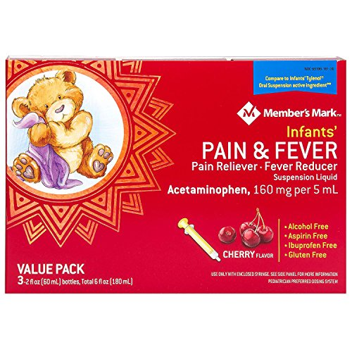 Member's Mark Infants' Pain & Fever Suspension Liquid, Cherry (2 fl. oz., 3 pk.) by Members Mark