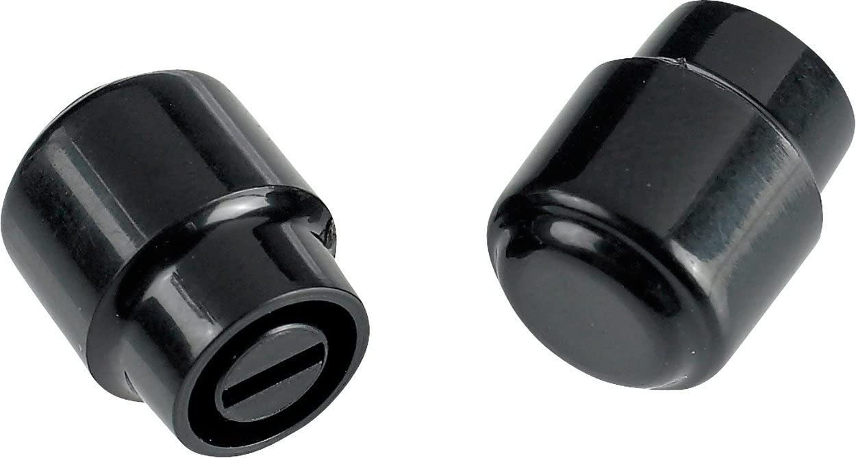 Genuine Fender Stratocaster Switch Tips BLACK Qty 2 For Most US and Mexico MIM