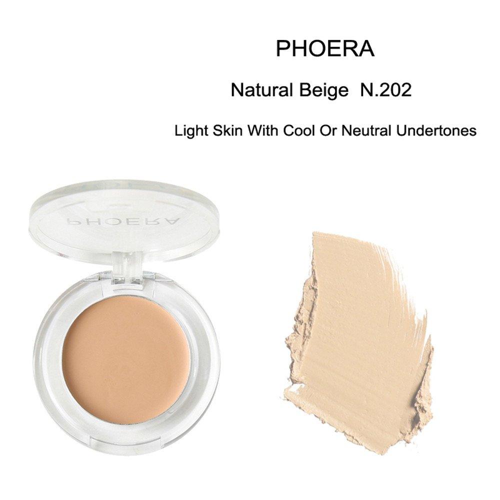 Kanzd PHOERA Face Makeup Concealer Foundation Palette Creamy Moisturizing Concealer (B)