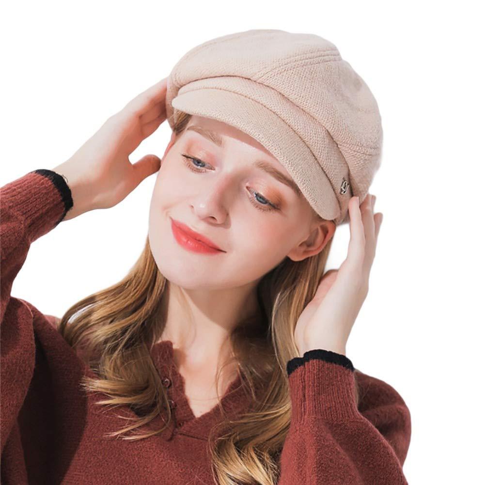 ACTLATI Wool Newsboy Cap Cabbie Beret Cap Women Visor Hat