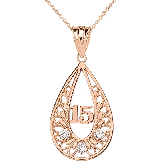 05c04ac29a96 Este collar para quinceañeras está fabricado del más puro oro amarillo de  10 o 14 quilates y cuenta con tres piedras de circonio