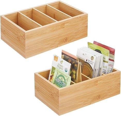 mDesign Juego de 2 organizadores de cocina – Práctica caja de ...