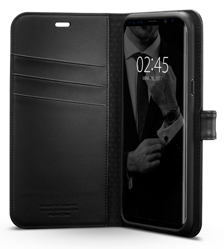 Galaxy S8 Case/Galaxy S8 Wallet Case, Spigen Wallet S - Foldable Cover and Kickstand Feature for Samsung Galaxy S8 (2017) - Black BRA005373