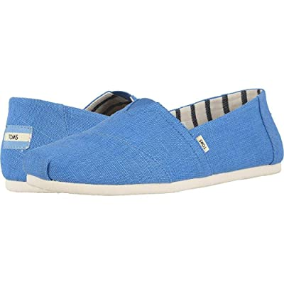 Toms Alpargata Bliss Blue Heritage Canvas 8.5 | Loafers & Slip-Ons