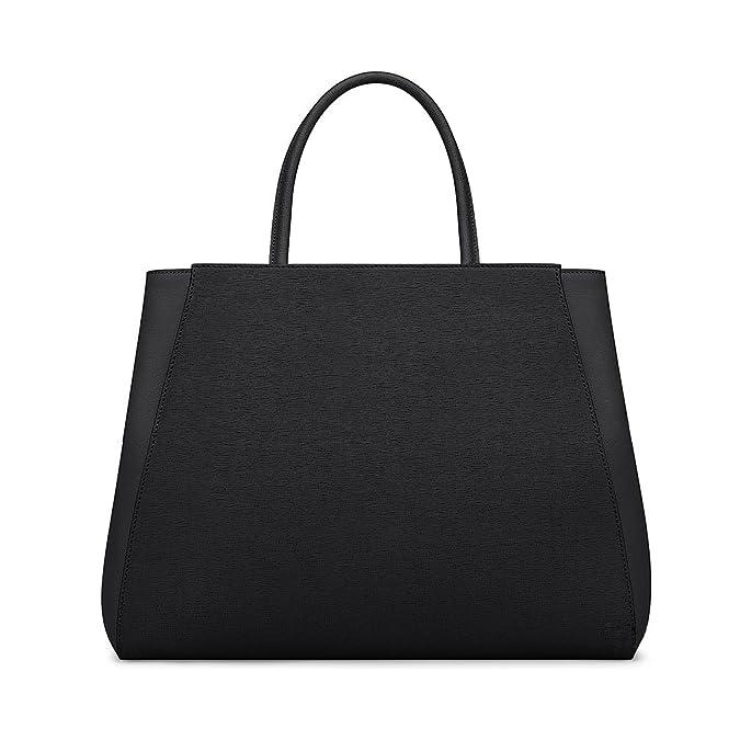 e2ed418701d3 Fendi Women Handbag Regular 2Jours Black Elite Calfskin  Handbags   Amazon.com