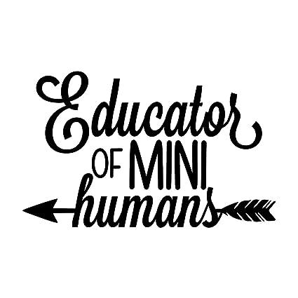 One 5.5 Inch Black Decal MKS0682B More Shiz Educator of Mini Humans Teacher Vinyl Decal Sticker Car Truck Van SUV Window Wall Cup Laptop
