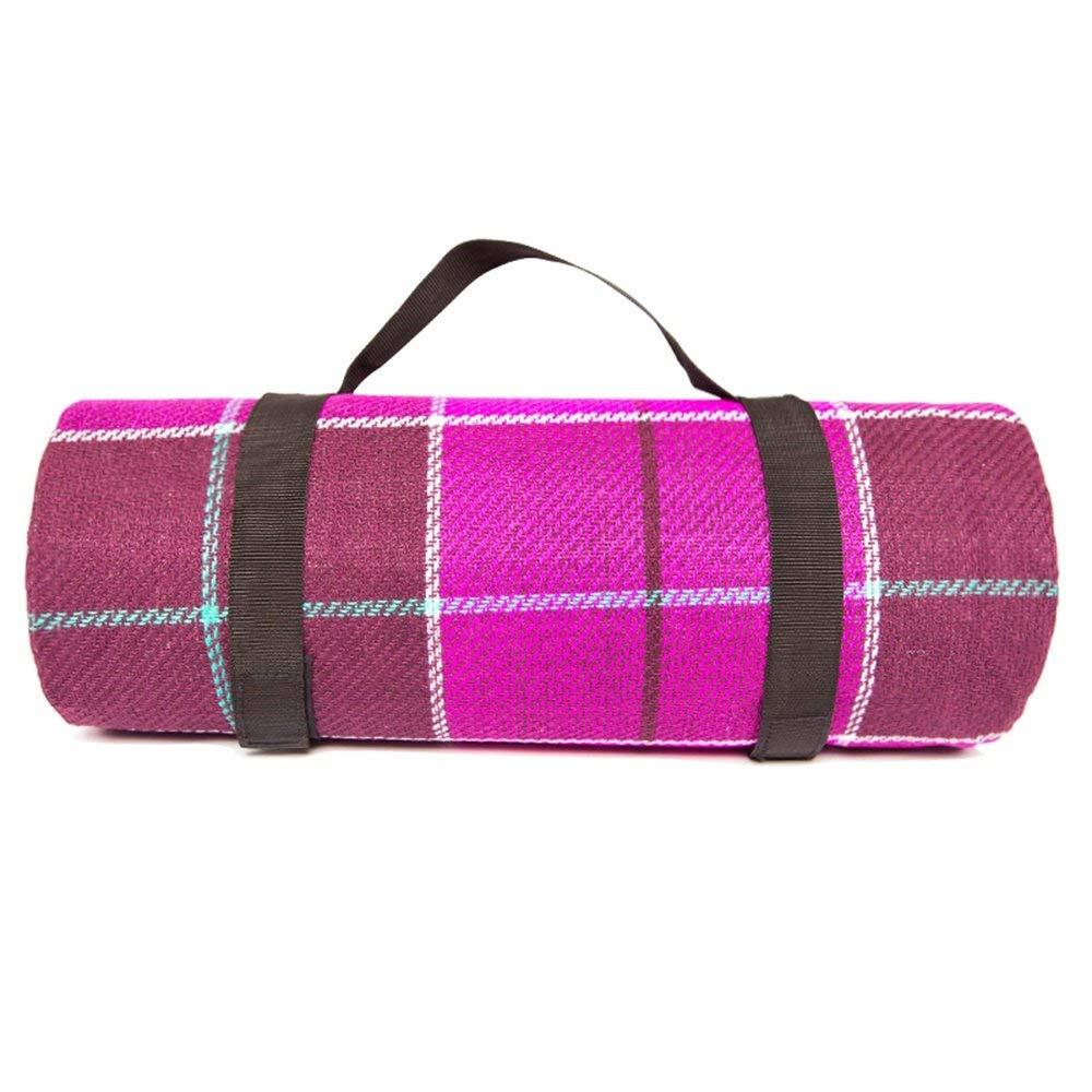 Rose Grille 200  140cm  ZLL Couvertures de pique-nique-acrylique couverture de pique-nique printemps Printemps portable Pelouse Camping Tapis épais,Grille rouge 200  200cm