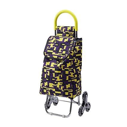 f52da23970c6 Amazon.com : Yalztc-zyq16 Trolley, Black Shopping Grocery Foldable ...