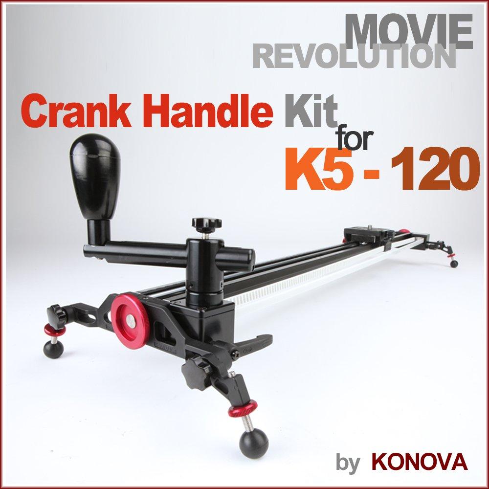 Konovaクランクハンドルキットfor k5 – 120 / kchk-5120 ( 47.2 inch )アタッチ可能onカメラスライダードリー   B007CAQTKG