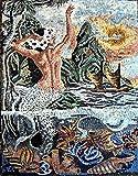 Mozaico - Stunning Mermaid Scene Mosaic Artwork Design Mural Decorative Tiles MS164