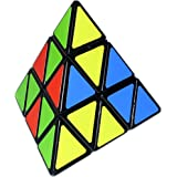 D-FantiX Shengshou Pyraminx 3x3 Speed Cube Triangle Magic Cube Puzzle Toys for Kids (Black)