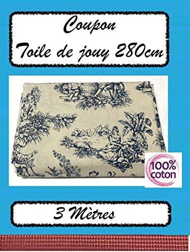 Retal de 3 m de tela de Jouy de algodón puro, 120 g/m2, gran ...