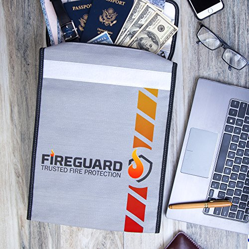 15x11 Fireguard Fire Resistant Document Bag Fireproof Protection Bag Legal Size