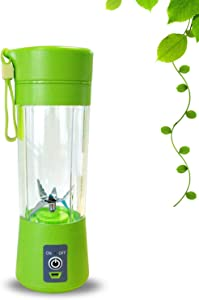 400ml Portable Juice Blender USB Juicer Cup Multi function Fruit Mixer Six Blade Mixing Machine Smoothies Baby Food,green