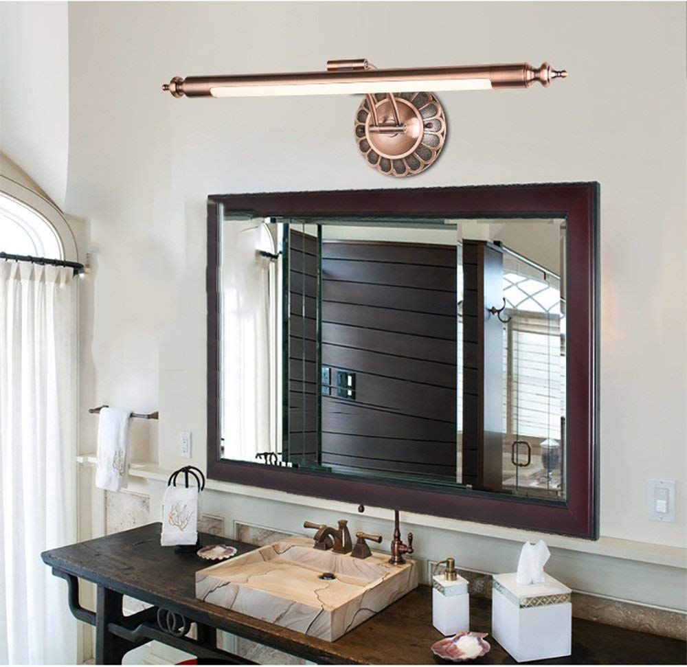 European American LED-Spiegel-Scheinwerfer wasserdichte Badezimmer-Spiegel-Kabinett-Licht Dresser Spiegelleuchten (Farbe   rot Bronze-S)