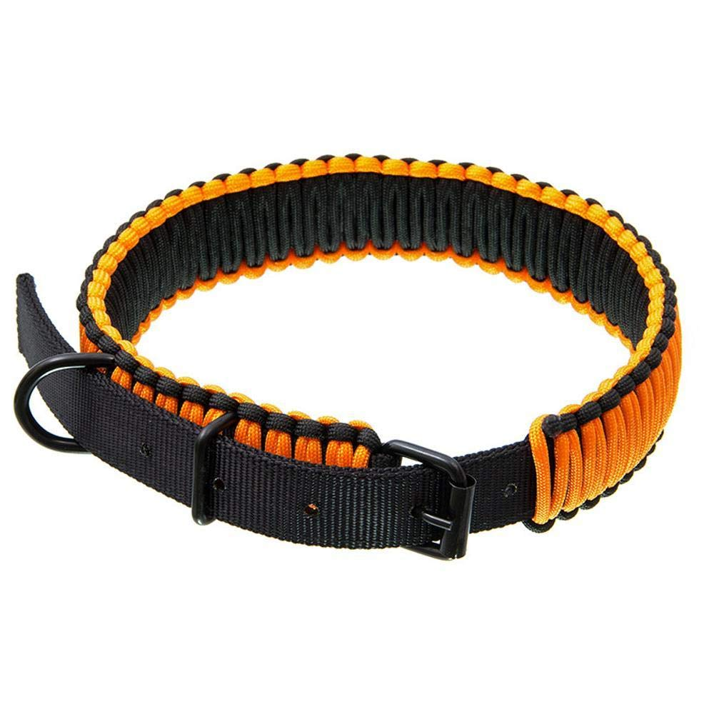 Daeou Collari per cani Poliestere mano tessuta cane collare, 77 centimetri di lunghezza totale