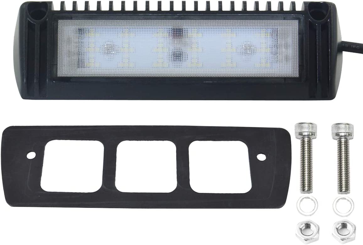 1 Pack Raycharm 5 Inch 12-24V 9W Heavy Duty Aluminum Housing LED Flood Light Fixture for RV /& Utility Vehicles